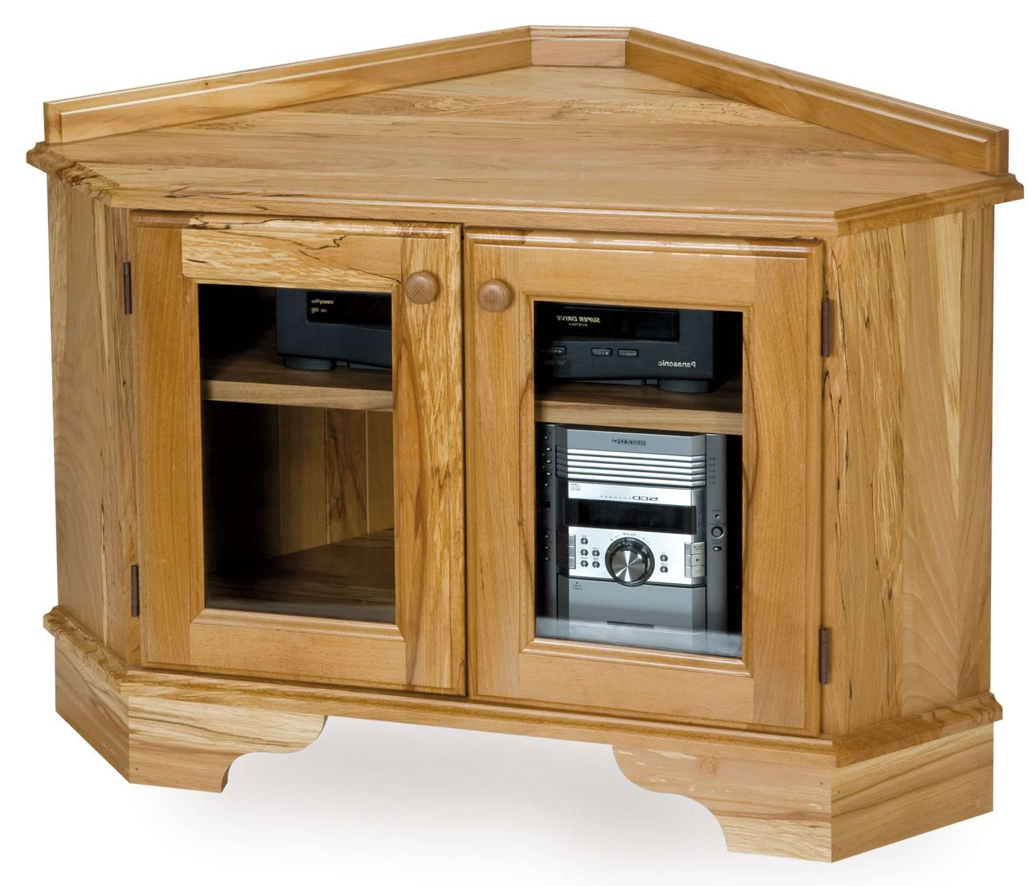 Solid Wood Tv Cabinet With Doors – Seeshiningstars Intended For Solid Wood Corner Tv Stands (View 16 of 20)