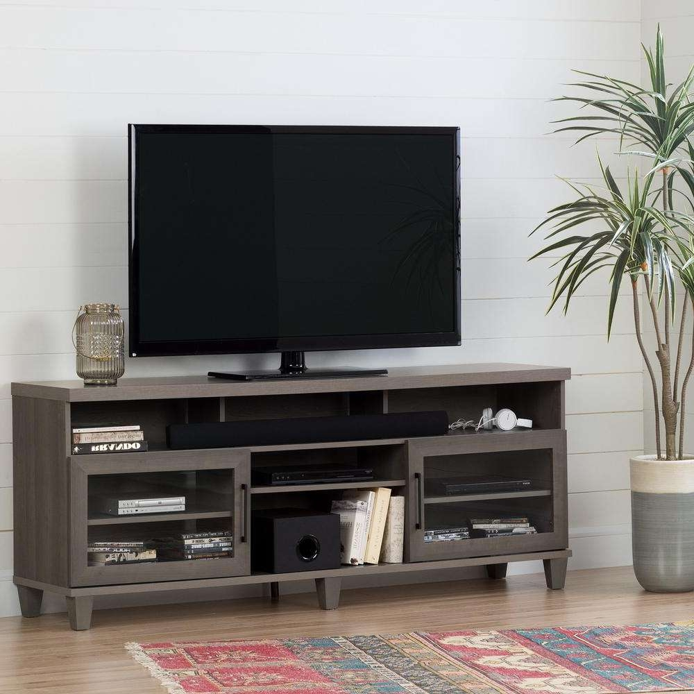 South Shore Adrian Gray Maple Tv Stand For Tvs Up To 75 In (View 10 of 20)