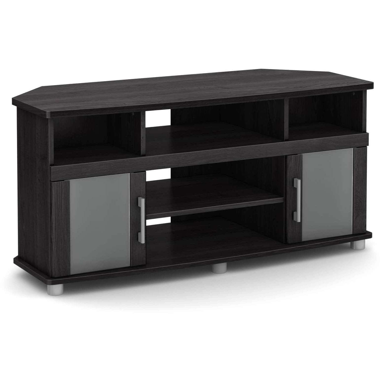 South Shore City Life Corner Tv Stand | Ebay Inside Grey Corner Tv Stands (View 11 of 20)