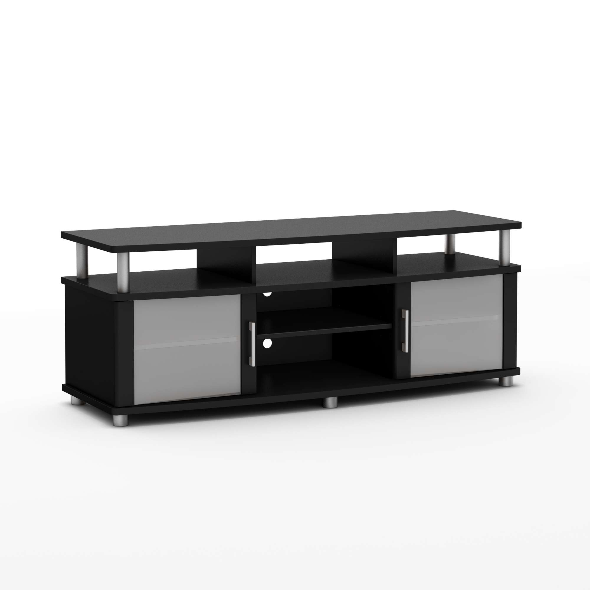 South Shore City Life Pure Black Tv Stand 4270677 For Black Tv Stands (View 13 of 20)