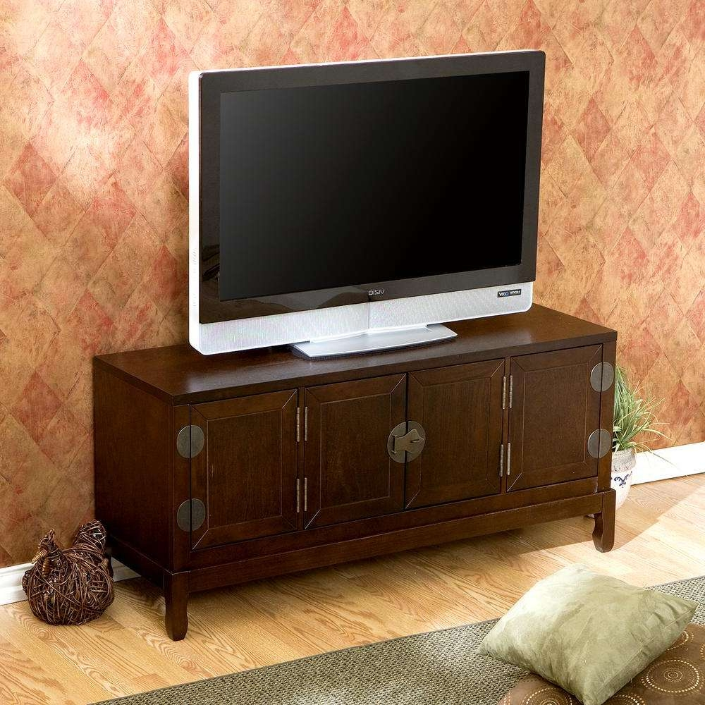 Southern Enterprises Dynasty Espresso Entertainment Center Ms9865 Within Asian Tv Cabinets (View 8 of 20)