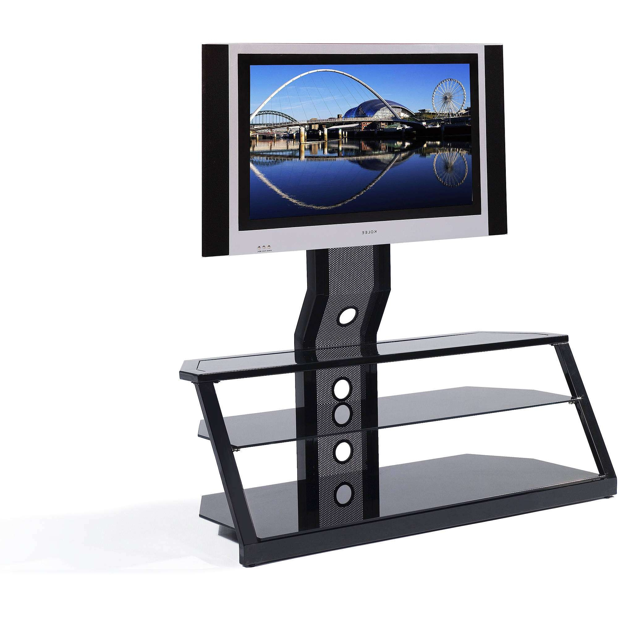"Spar Glass And Metal Tv Stand For Tvs Up To 65"" – Walmart Inside Como Tv Stands (View 6 of 15)"
