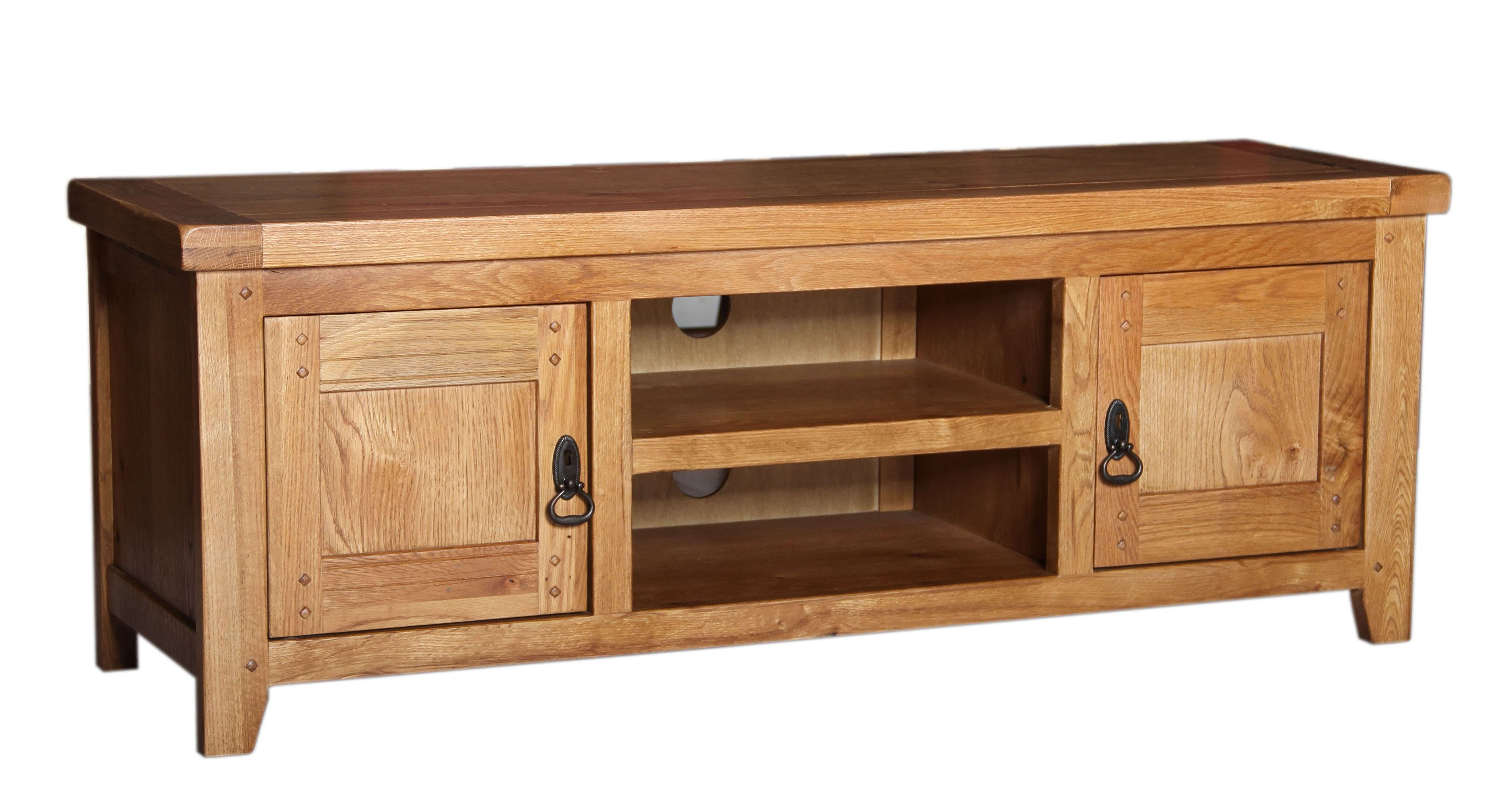 Sparkling Rustic Oak Low Tv Cabinet For Tv Cabinet Rustic Images Throughout Low Oak Tv Stands (View 5 of 20)