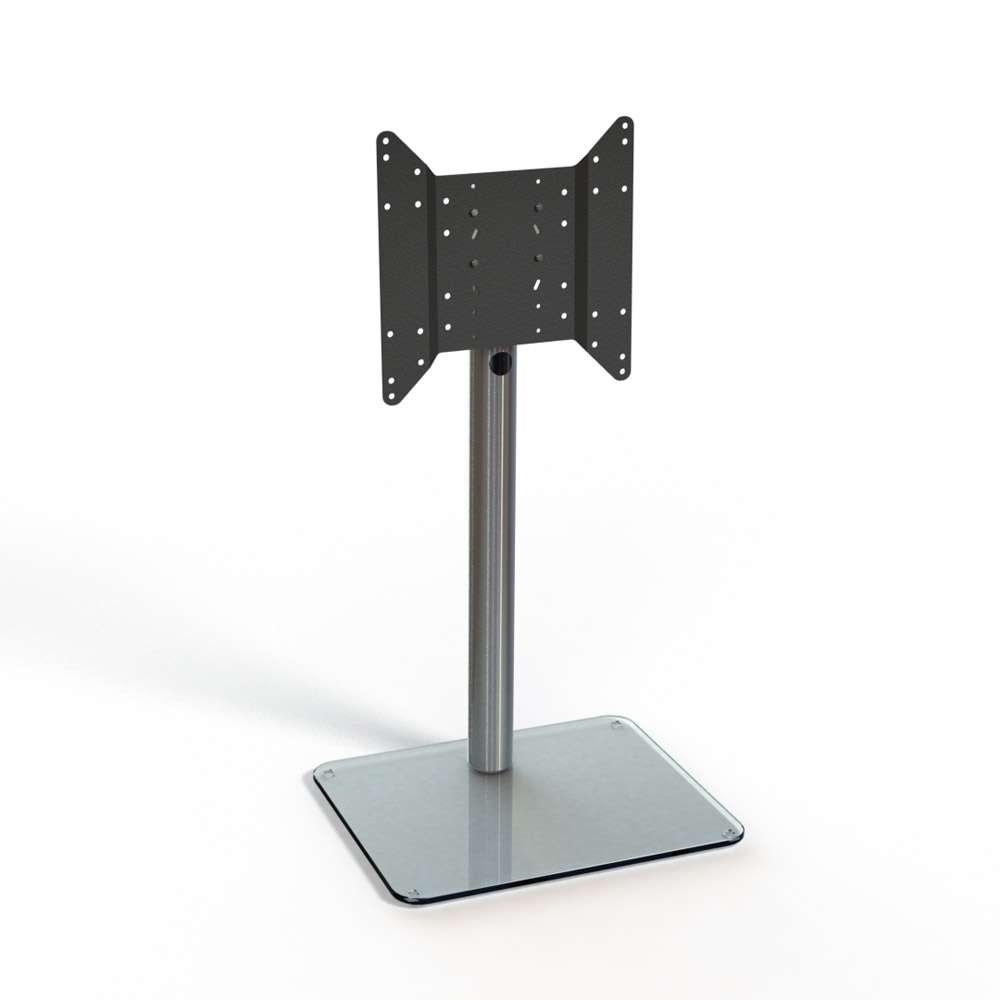 Spectral Just Racks Tv600 Aluminium / Clear Glass Tv Stand – Just Regarding Clear Glass Tv Stands (View 13 of 15)