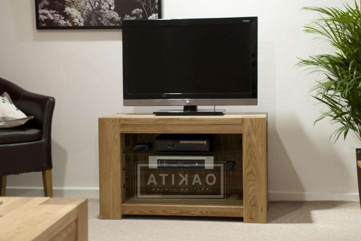 St Ives Oak Simple Tv Cabinet – Oak Tv Stands & Entertainment Inside Small Oak Tv Cabinets (View 16 of 20)