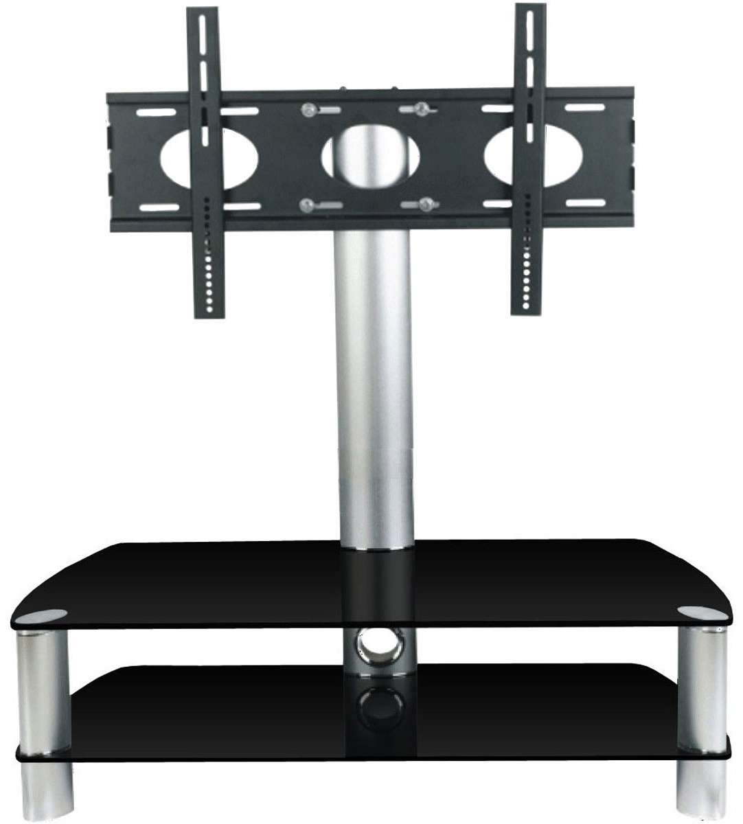 Stil Stand Stuk 2053chbl Tv Stands Inside Swivel Black Glass Tv Stands (View 13 of 15)