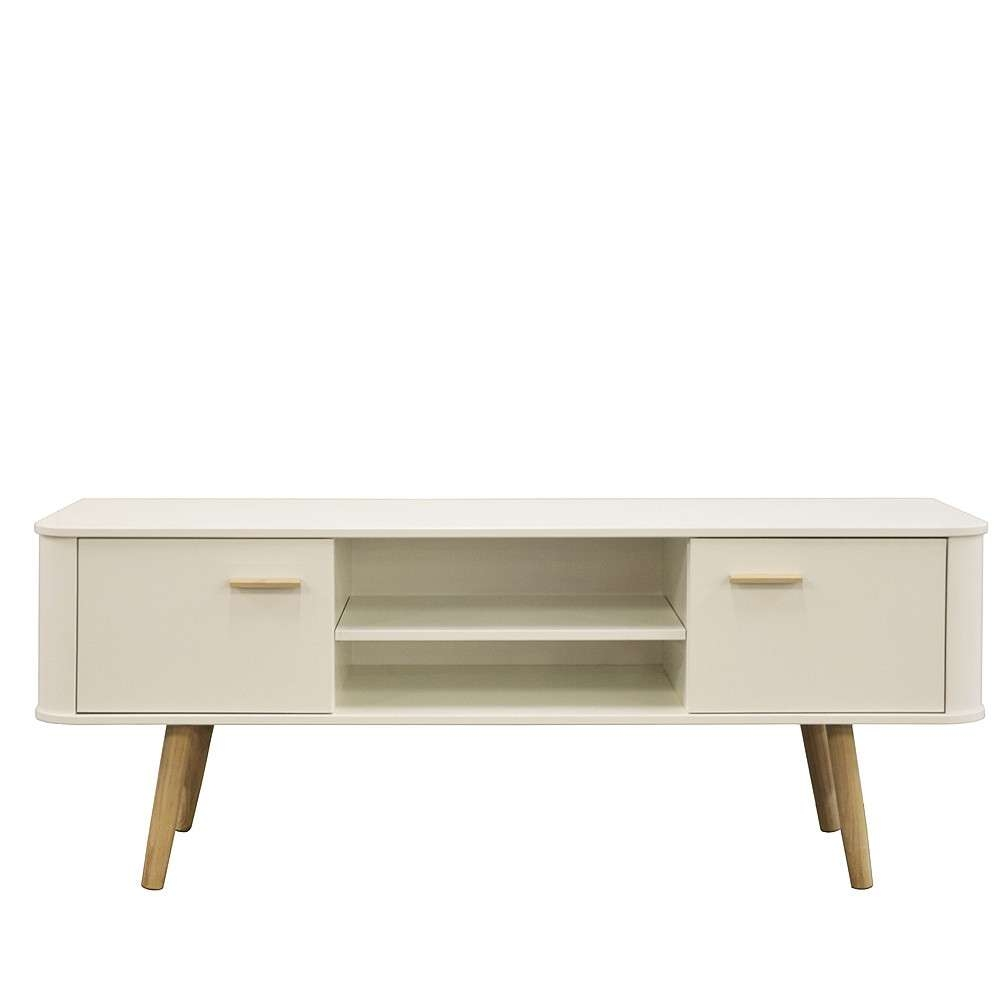 Style Wide Tv Cabinet White/oak With Scandinavian Tv Stands (View 6 of 15)