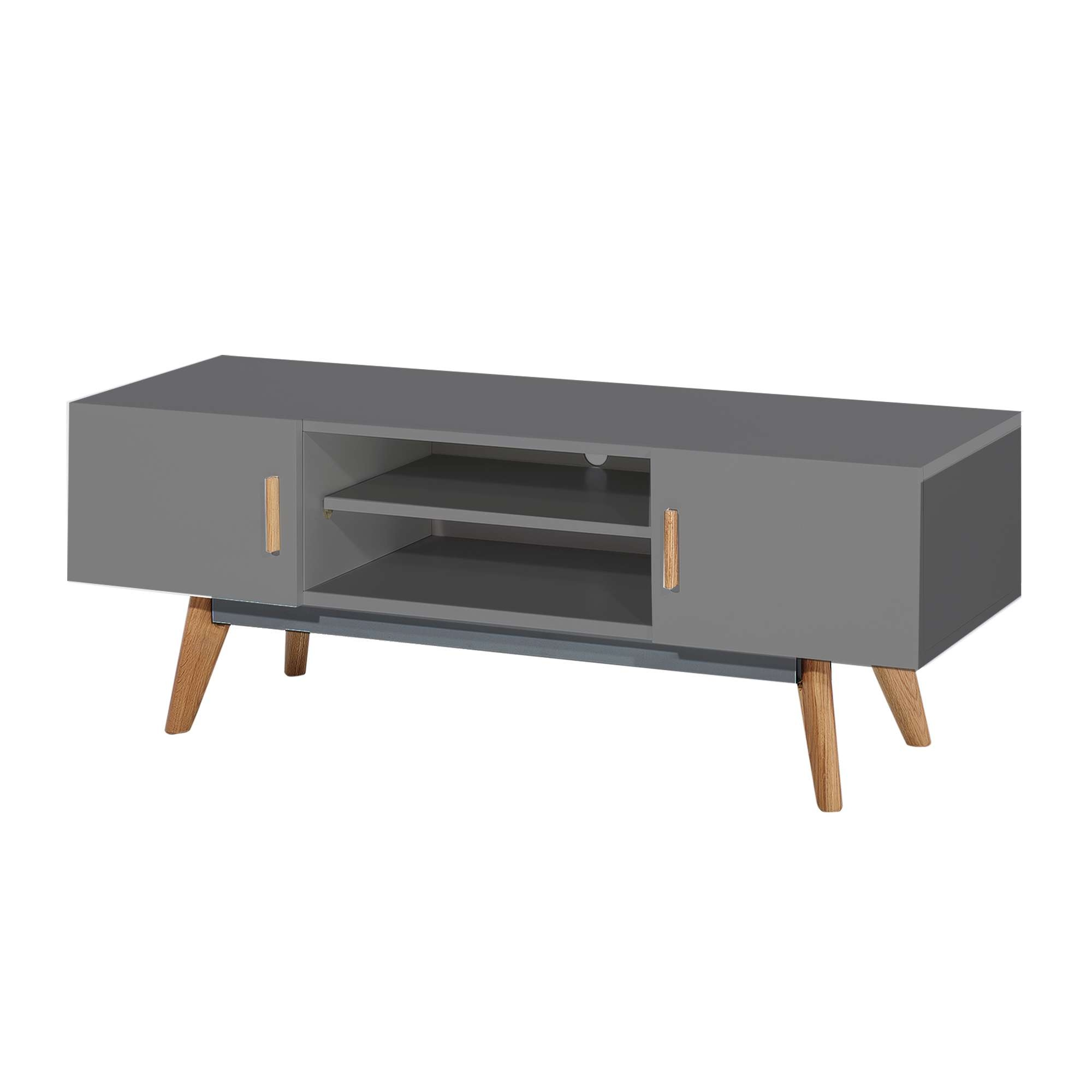 Stylish White Modern Tv Stand From Abreo Abreo Home Furniture In Scandinavian Tv Stands (View 8 of 15)