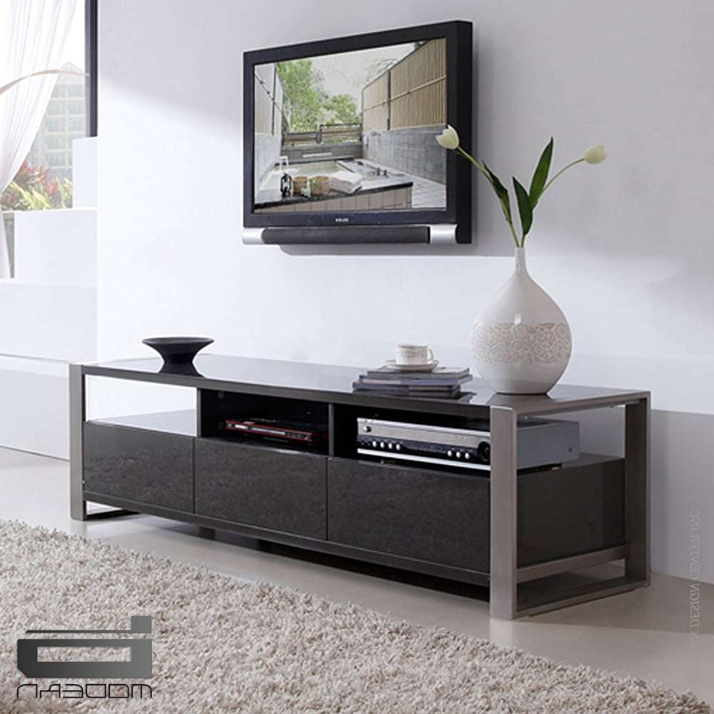 Stylist Tv Standb Modern – Interiordesignerdecor Within Grey Tv Stands (View 11 of 15)