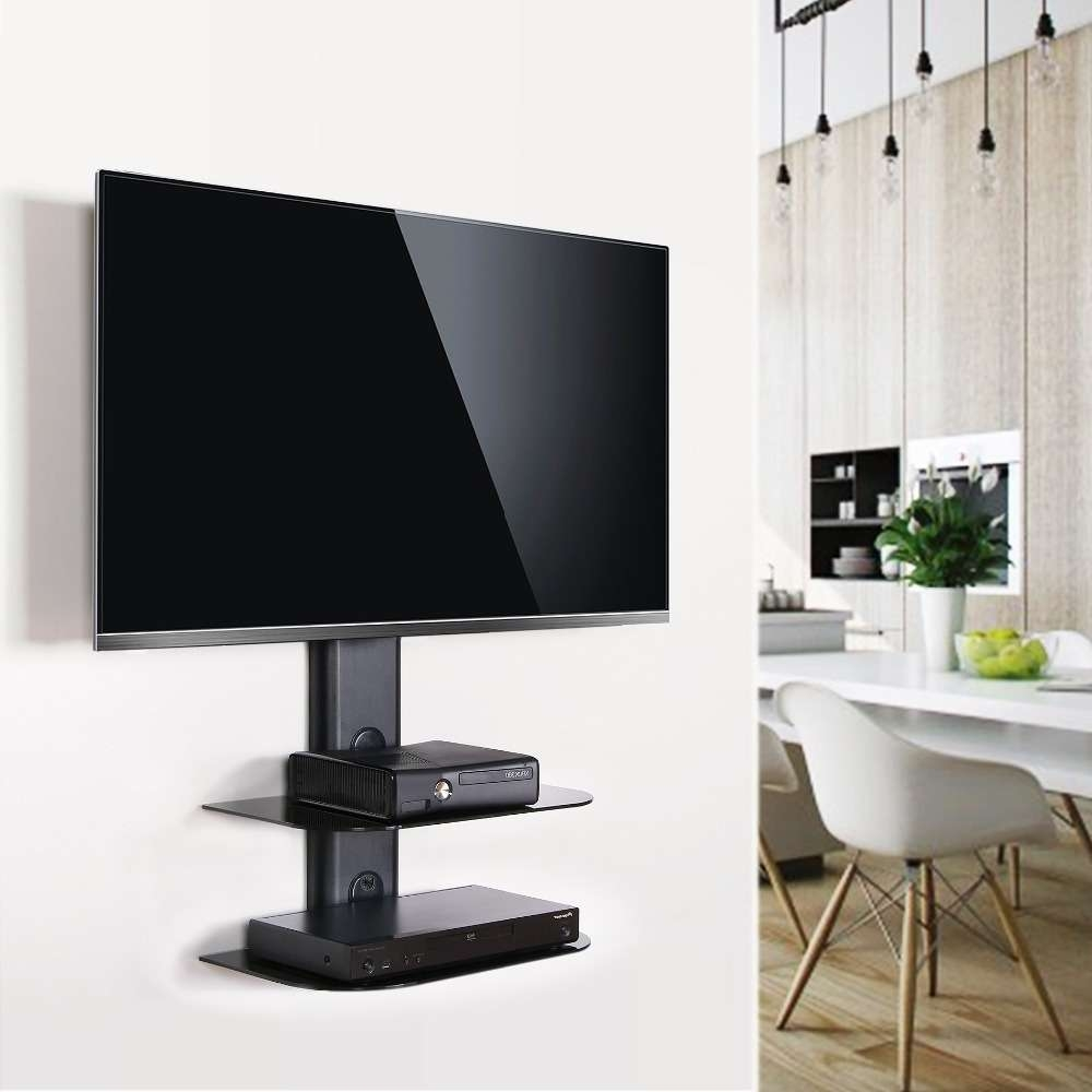 Swivel Wall Mount Tv Stand With Shelf • Shelves With Wall Mount Adjustable Tv Stands (View 13 of 20)
