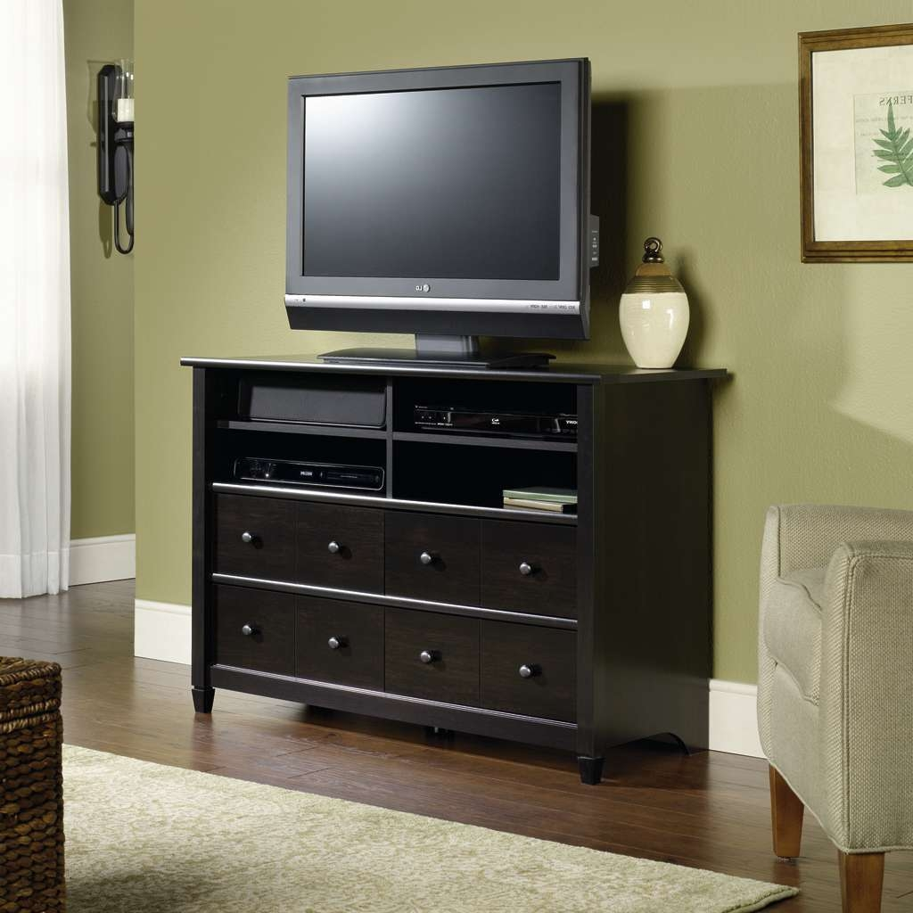Tall Black Tv Stand With Drawers And Shelves For Bedroom Of 16 Regarding Tall Black Tv Cabinets (View 17 of 20)