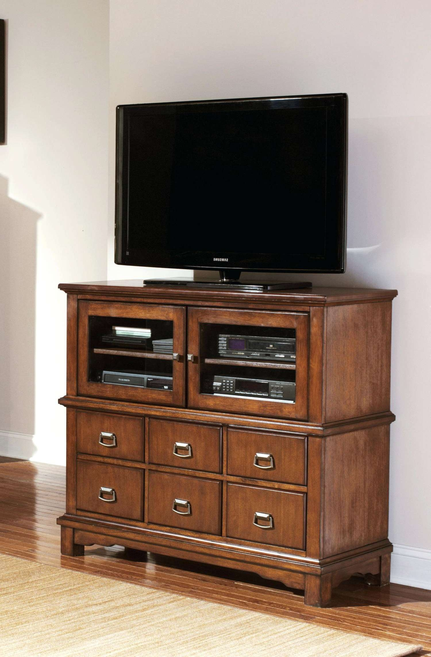 Tall Corner Media Stands Cabinet Espresso Storage Glass Door And Intended For Corner Tv Stands With Drawers (View 14 of 15)