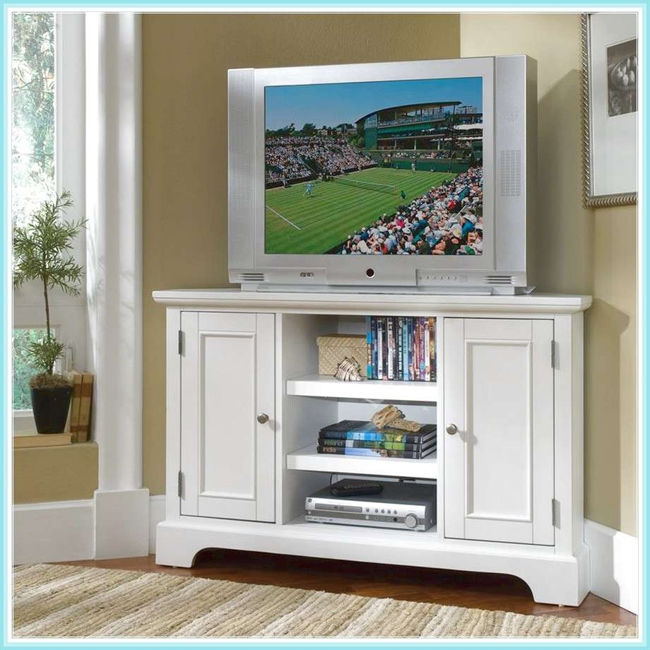Tall Corner Tv Stand: Designs And Images   Homesfeed Within Painted Corner Tv Cabinets (View 19 of 20)