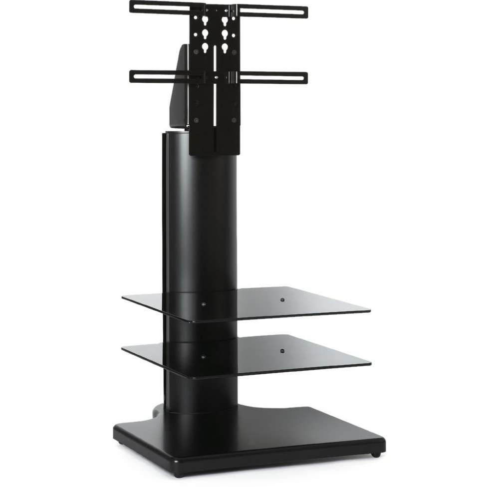 Tall Slim Compact Display Unit Black Square Tv Stand With Regard To Slim Tv Stands (View 15 of 20)