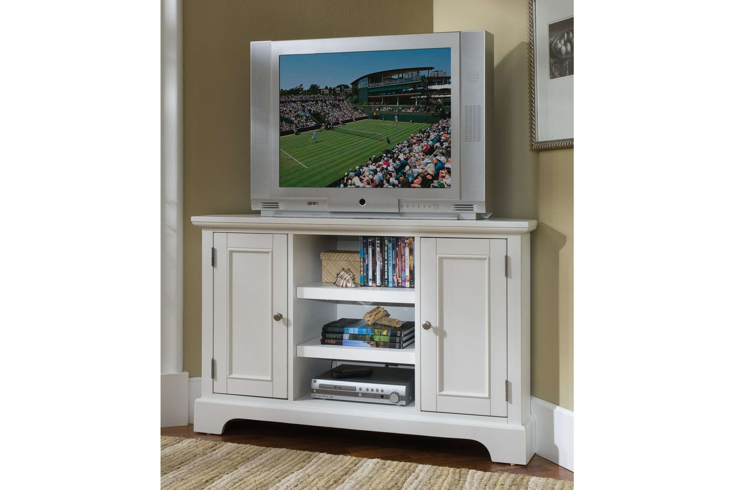Tallner Tv Cabinet Stand With Doors Ikea For Bedroom – Tall Corner In White Wood Corner Tv Stands (View 10 of 15)