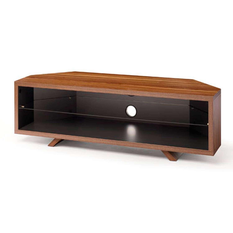 Techlink Dual Dl115dosg Dark Oak/satin Grey Corner Tv Stand For Up Inside Grey Corner Tv Stands (View 20 of 20)