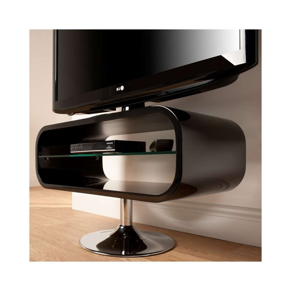 Techlink Op80b Opod Piano Black Led & Lcd Tv Stand – Techlink From In Ovid Tv Stands Black (View 18 of 20)