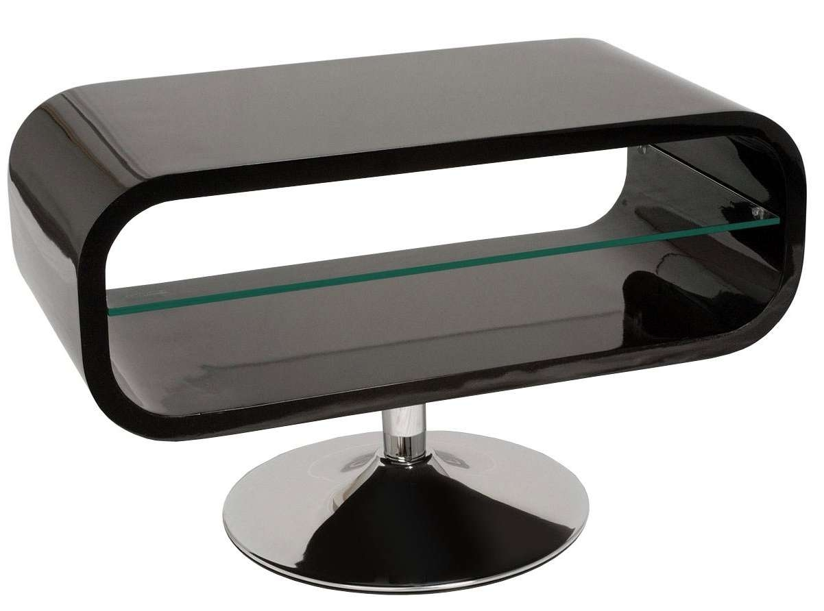 Techlink Op80b Tv Stands Inside White Gloss Oval Tv Stands (View 14 of 15)