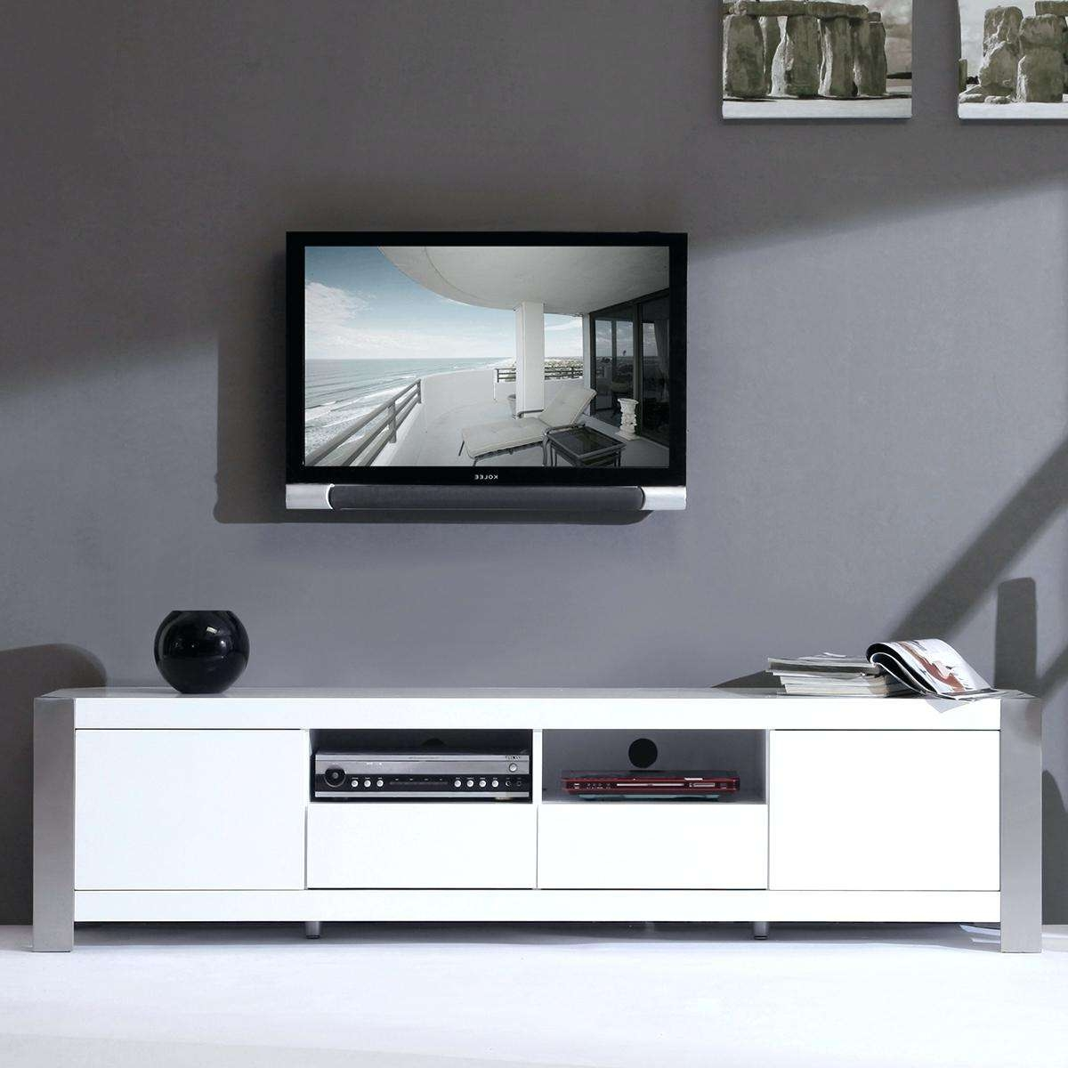 Techlink Ovid Tv Stand Tv Stands White High Gloss Tv Stand Modern With White Gloss Oval Tv Stands (View 20 of 20)