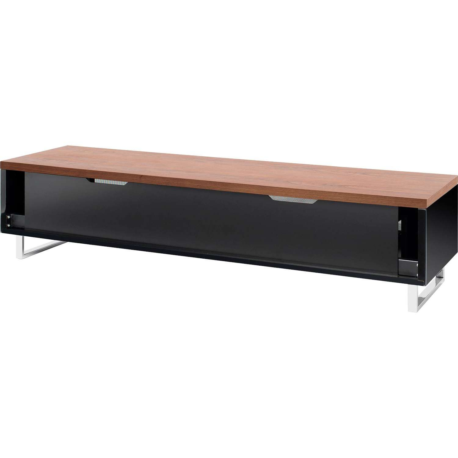 Techlink Panorama Pm160w Piano Black & Walunt Tv Stand For Up To Pertaining To Techlink Pm160w Panorama Tv Stands (View 4 of 15)