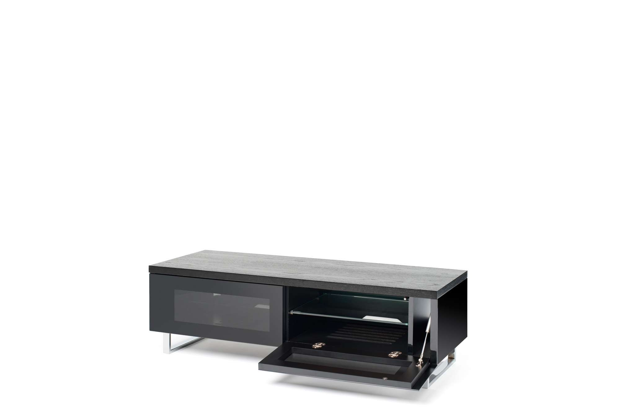 Techlink Pm160B 'panorama' 160Cm Tv Stand Black | Hbh Woolacotts Inside Panorama Tv Stands (View 14 of 20)