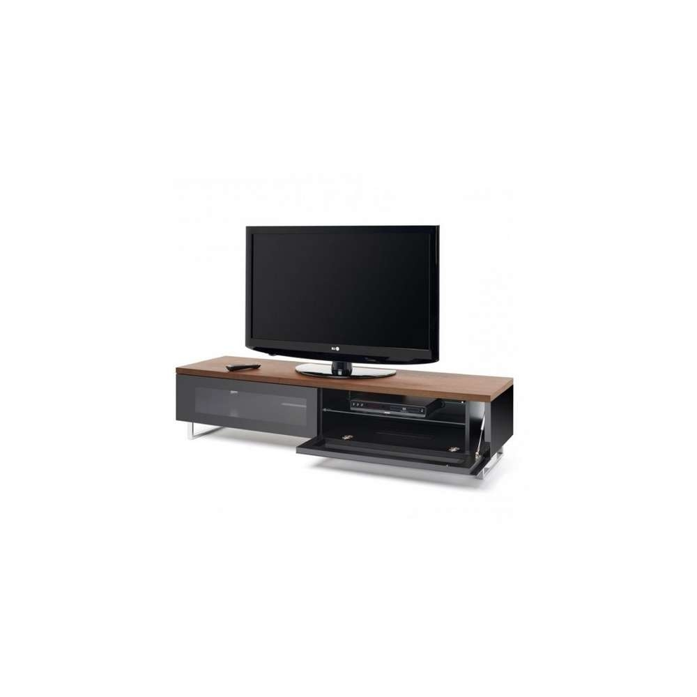 Techlink Pm160W Panorama Piano Gloss Black And Walnut Large Tv In Techlink Pm160W Panorama Tv Stands (View 14 of 15)