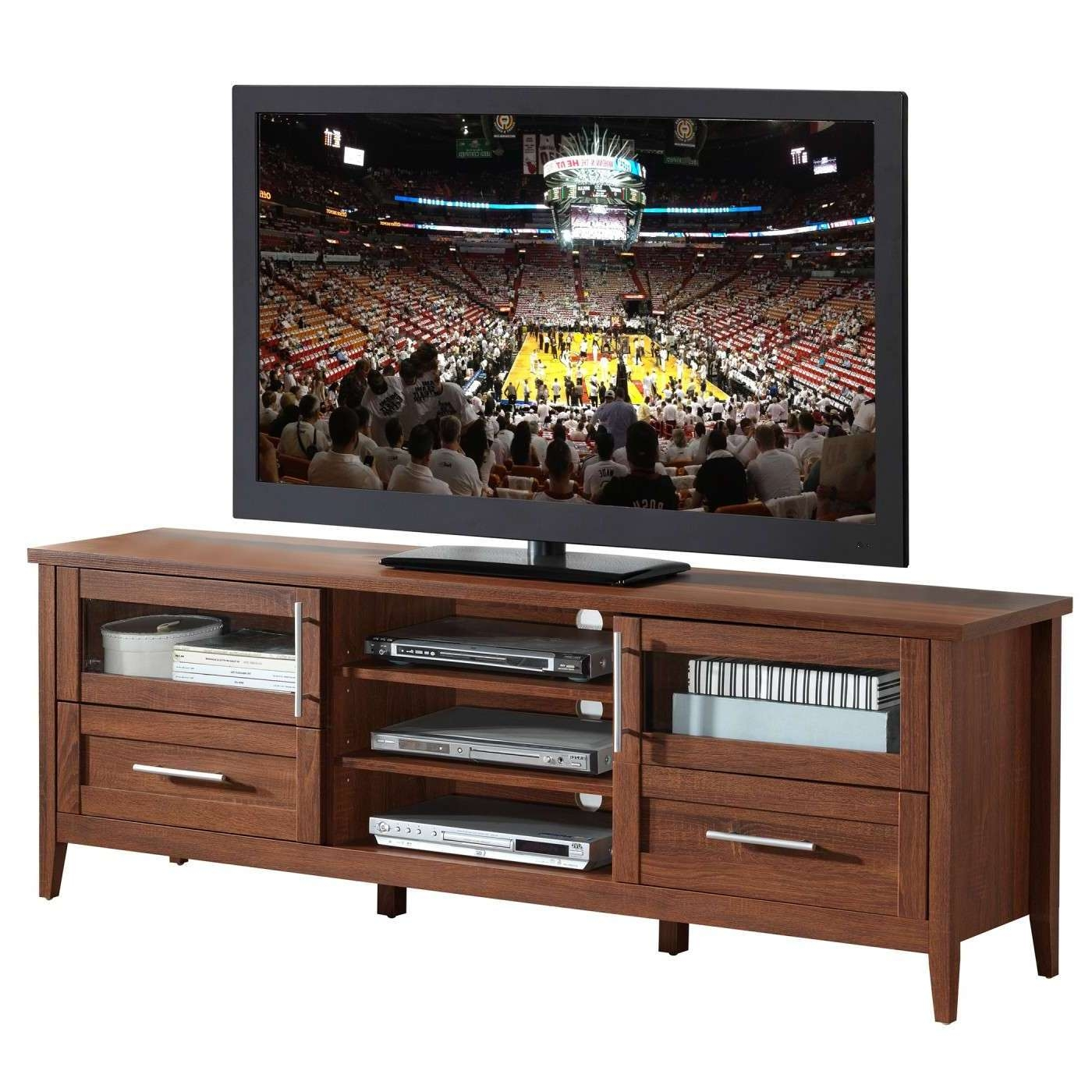Techni Mobili Modern Oak Tv Stand With Storage For Tvs Up To 75 Pertaining To Modern Oak Tv Stands (View 11 of 15)