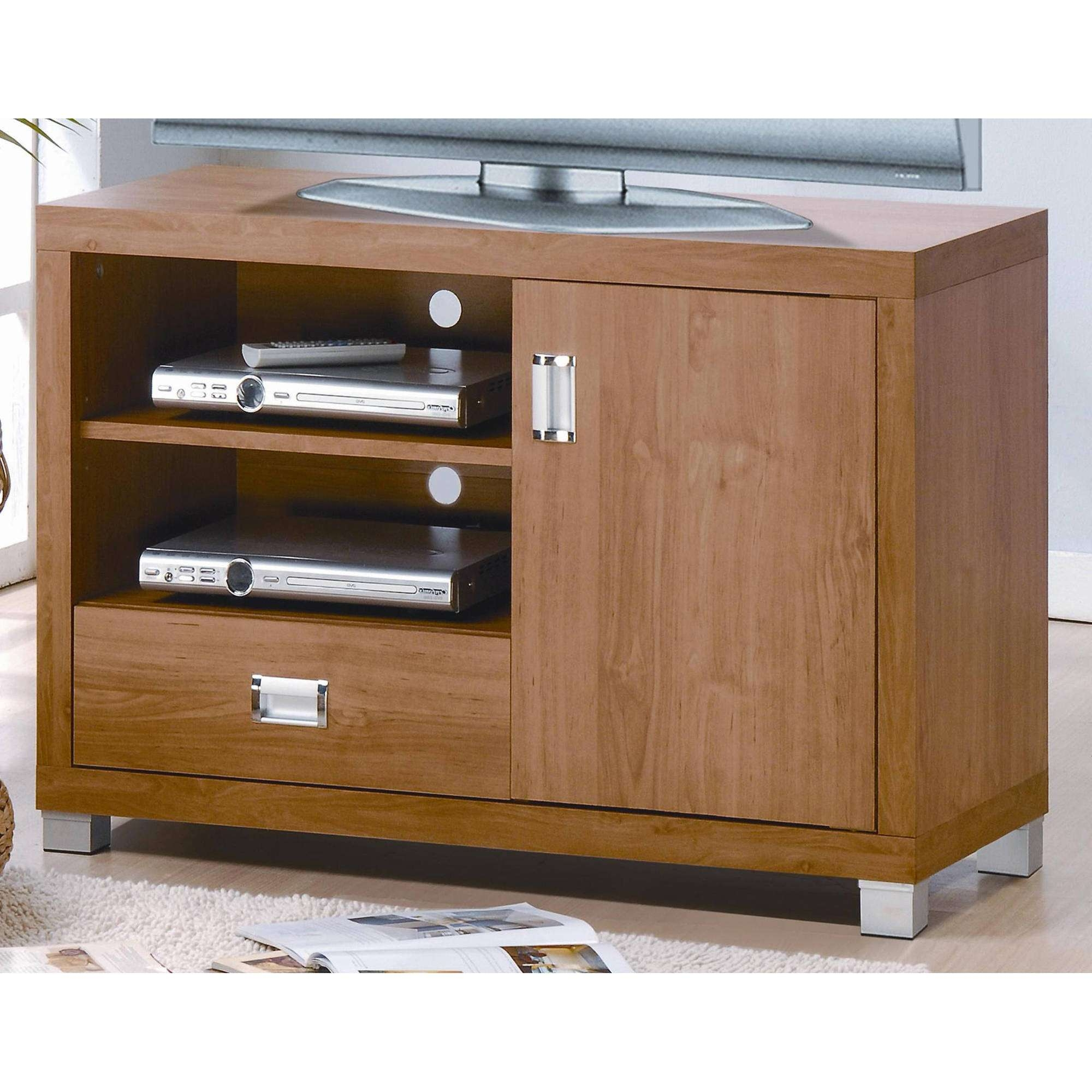 Techni Mobili Tv Cabinet, Maple – Walmart Intended For Maple Tv Cabinets (View 6 of 20)