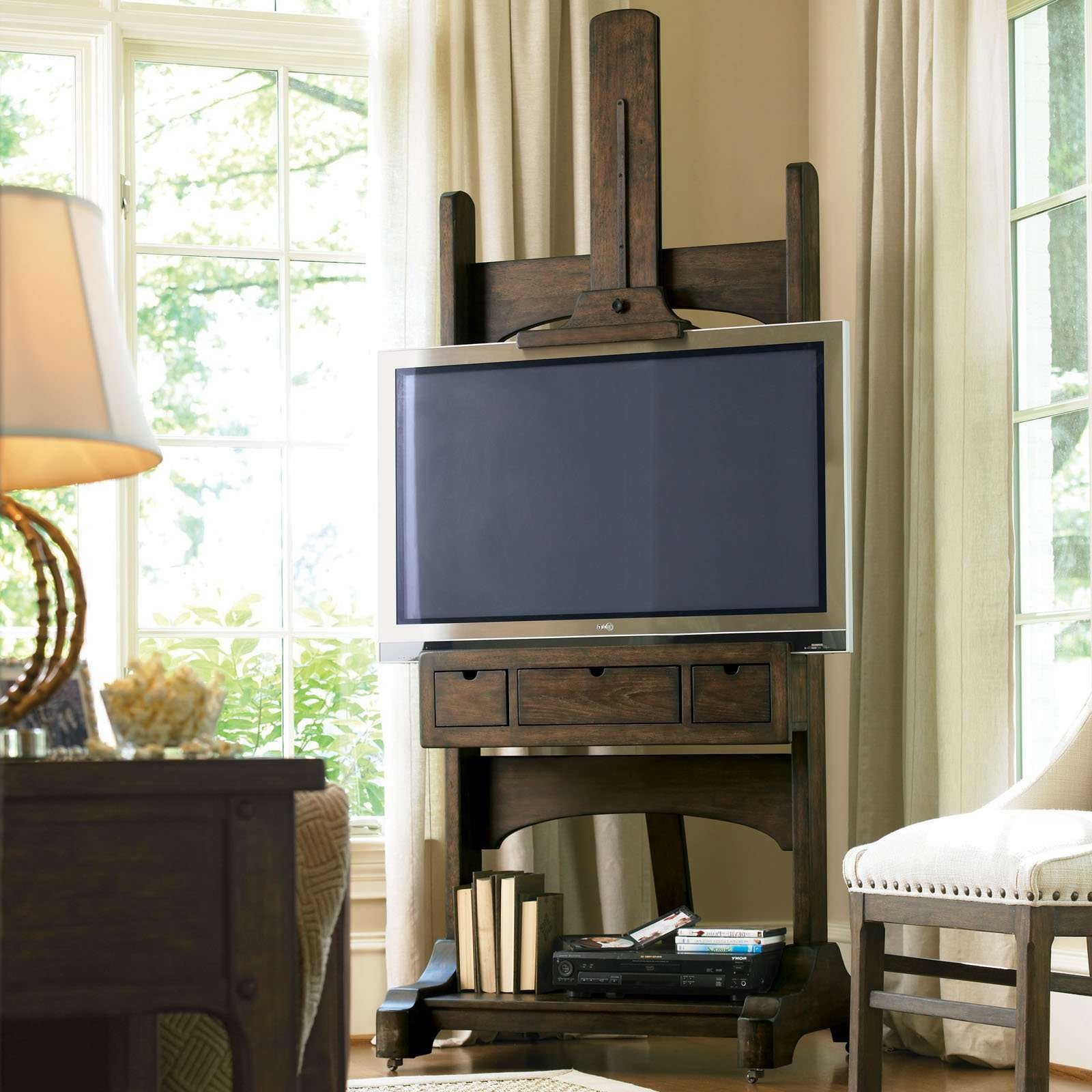 Terrific Target Flat Screen Tv Stands Sauder Media Cabinet Sauder Regarding Easel Tv Stands For Flat Screens (View 6 of 15)