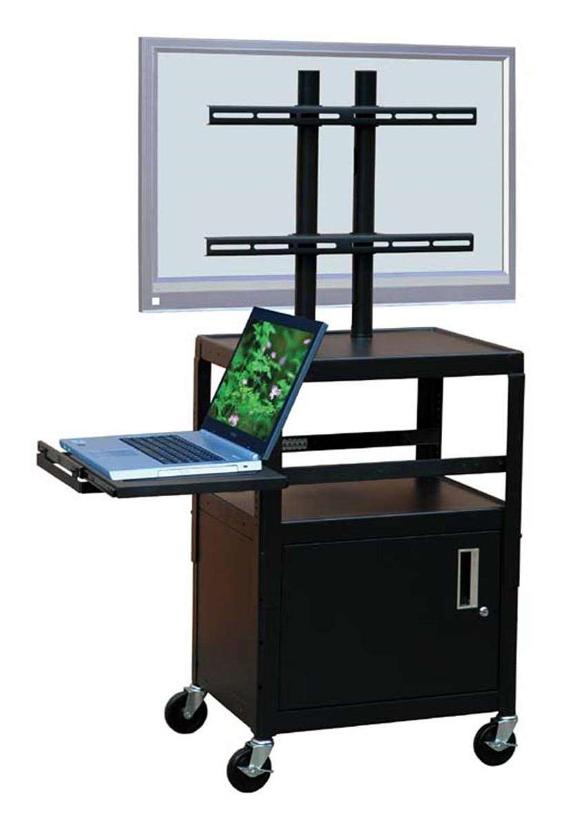 This Rolling Av Cart Can Be Used As A Podium In A Church Hall Pertaining To Lockable Tv Stands (View 4 of 20)
