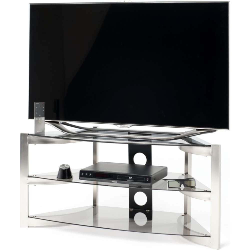 Three Generous Glass Shelves; Screens Up To 50 In Techlink Corner Tv Stands (View 19 of 20)