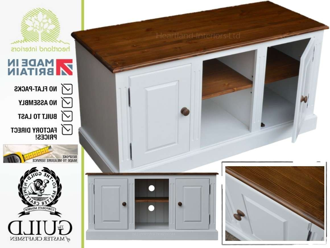 Traditional Painted 4ft Wide Entertainment – Tv Unit Throughout White Painted Tv Cabinets (View 11 of 20)