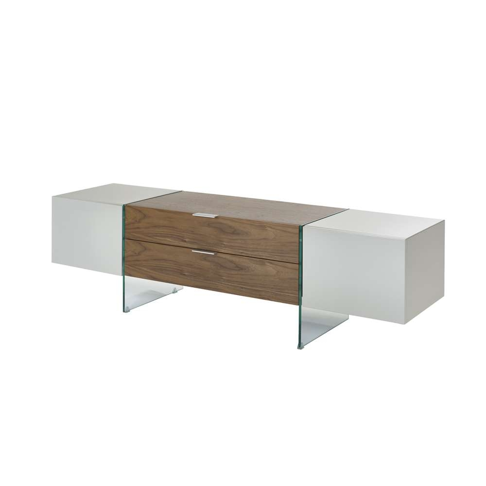 Treble Tv Unit Light Grey And Walnut – Dwell Intended For Dwell Tv Stands (View 13 of 15)