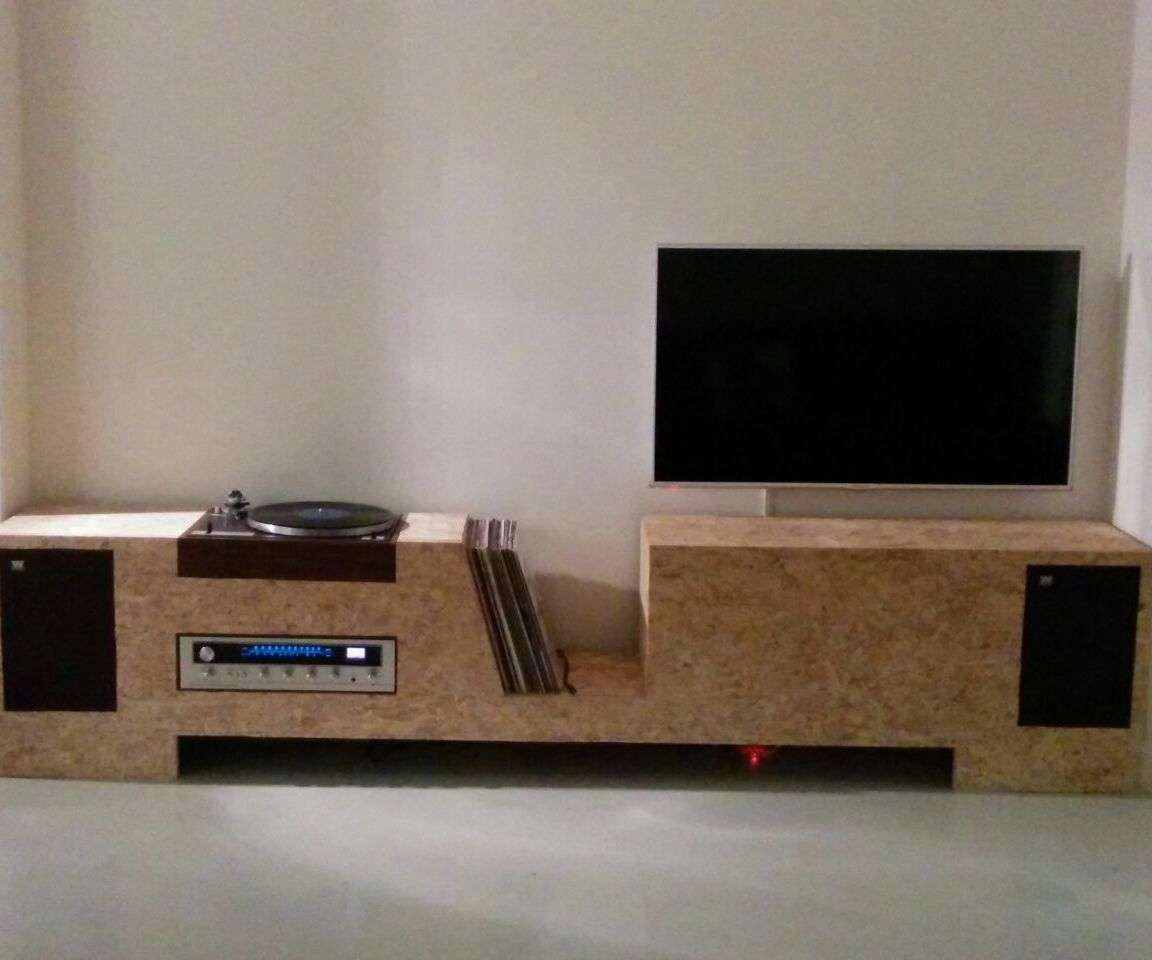 Turntable Cabinet Osb: 4 Steps Throughout Turntable Tv Stands (View 4 of 15)