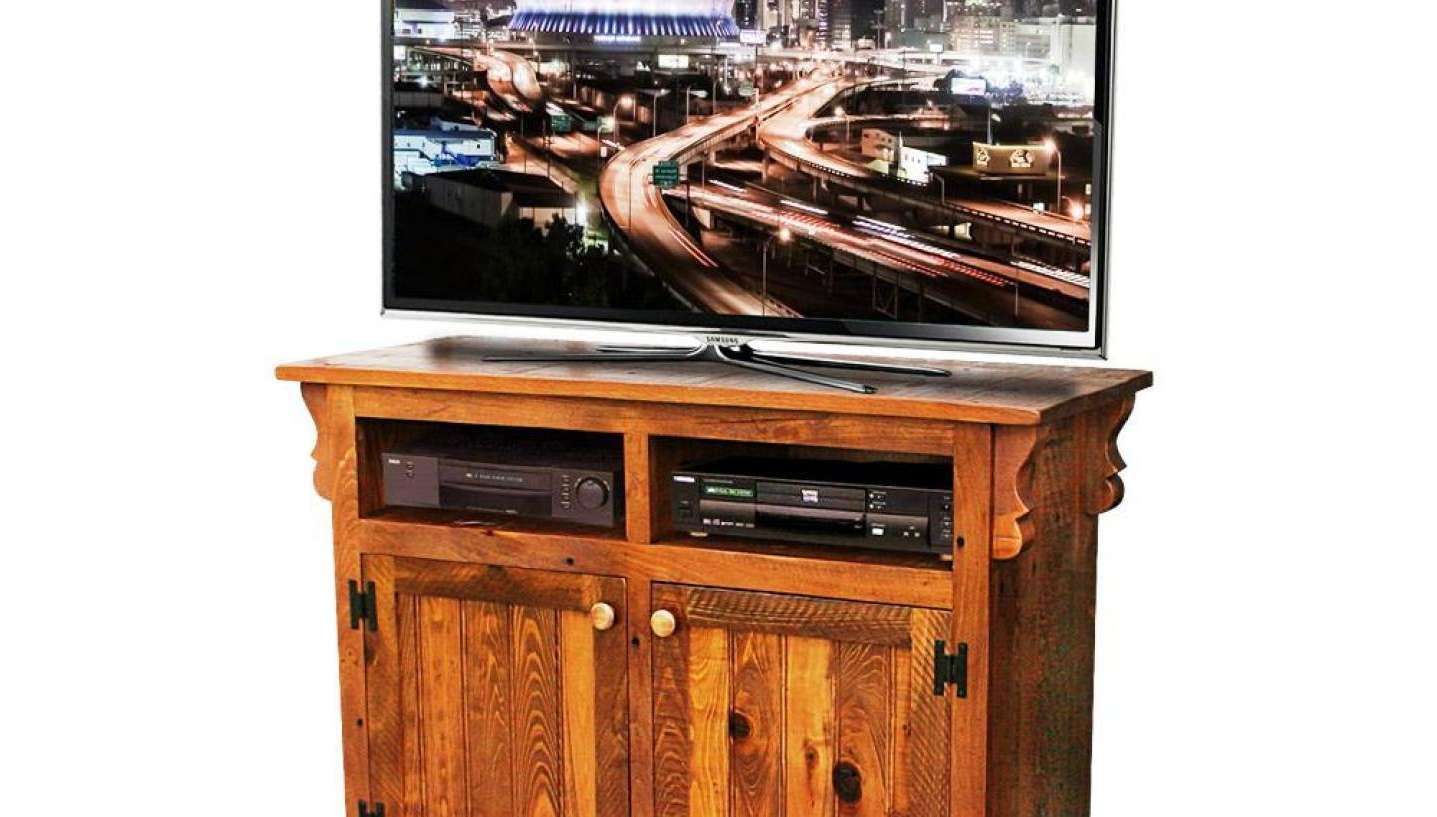 Tv : 35 Supurb Reclaimed Wood Tv Stands Media Consoles Awesome Regarding Rustic Looking Tv Stands (View 10 of 20)