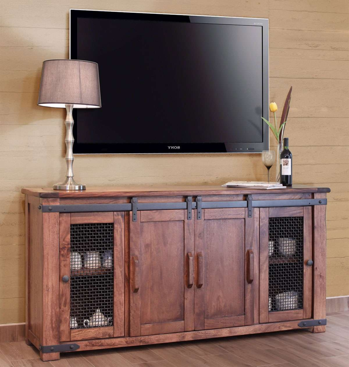 Tv : 35 Supurb Reclaimed Wood Tv Stands Media Consoles Beautiful Inside Beech Tv Stands (View 4 of 15)