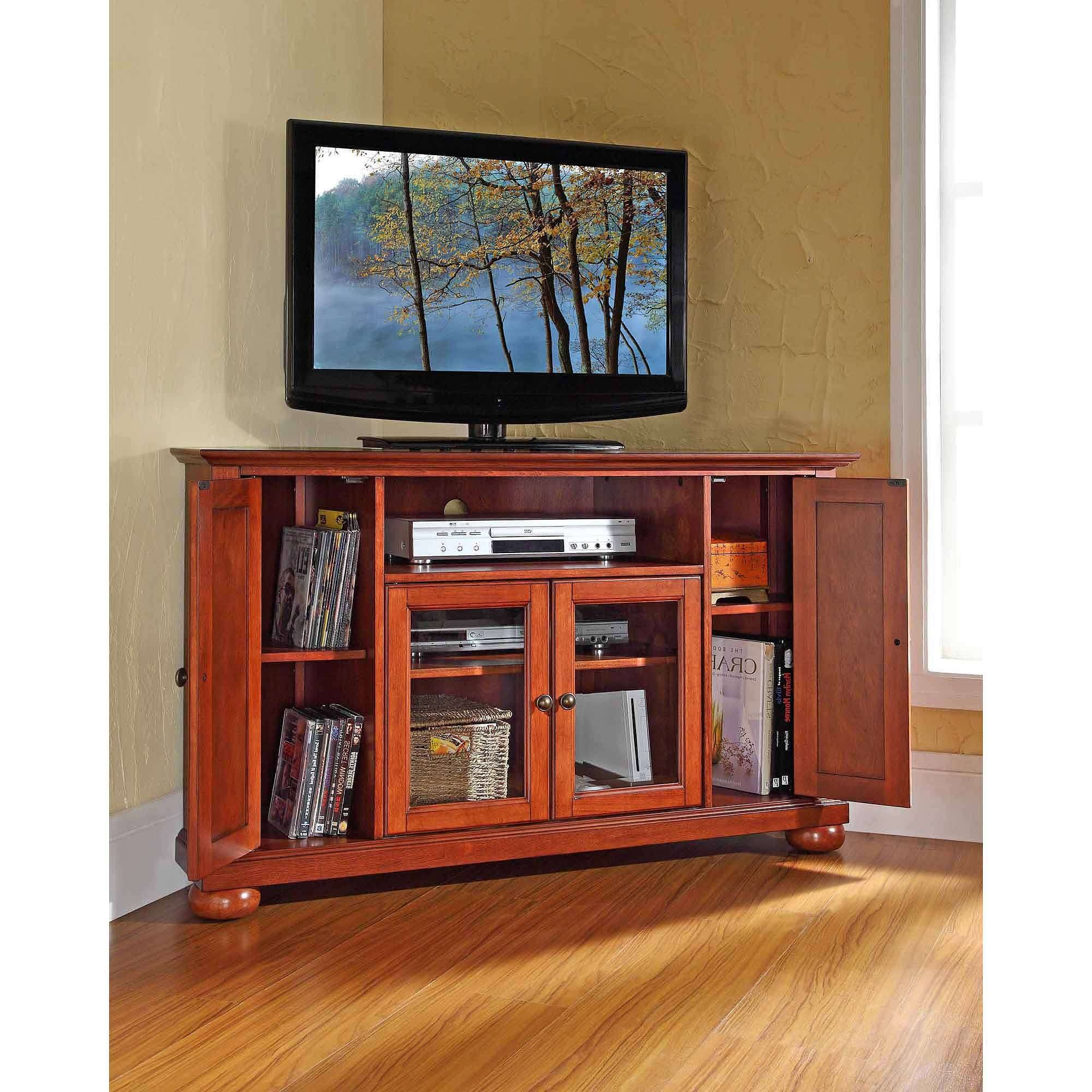 Tv : Amazing Low Corner Tv Stands Leick Home Westwood 46 Corner Tv Pertaining To Corner Tv Stands 46 Inch Flat Screen (View 8 of 15)
