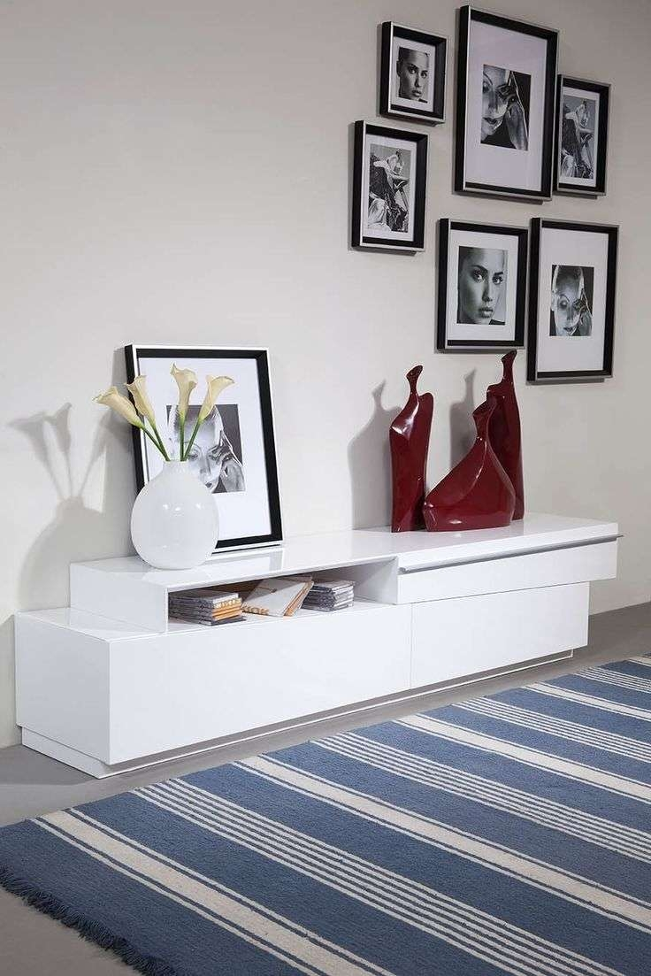 Tv : Amazing Oval White Tv Stands Techlink Ovid White Gloss Oval With Ovid White Tv Stands (View 9 of 15)