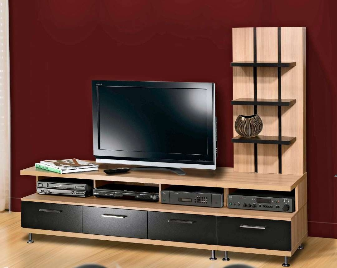 Tv : Andover Media Console Stunning Walnut Tv Stands For Flat With Regard To Walnut Tv Stands For Flat Screens (View 13 of 20)