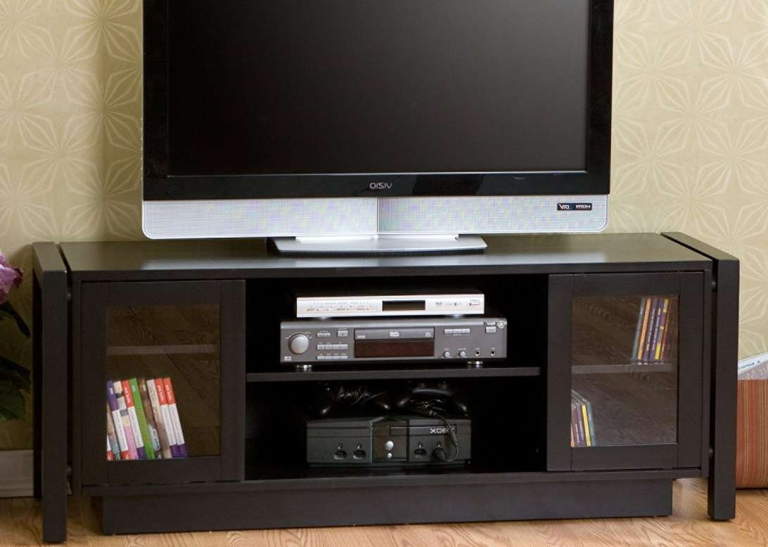 Tv : Astonishing Black Tv Cabinets With Doors Enthrall Black Tv Regarding Black Tv Cabinets With Doors (View 15 of 20)