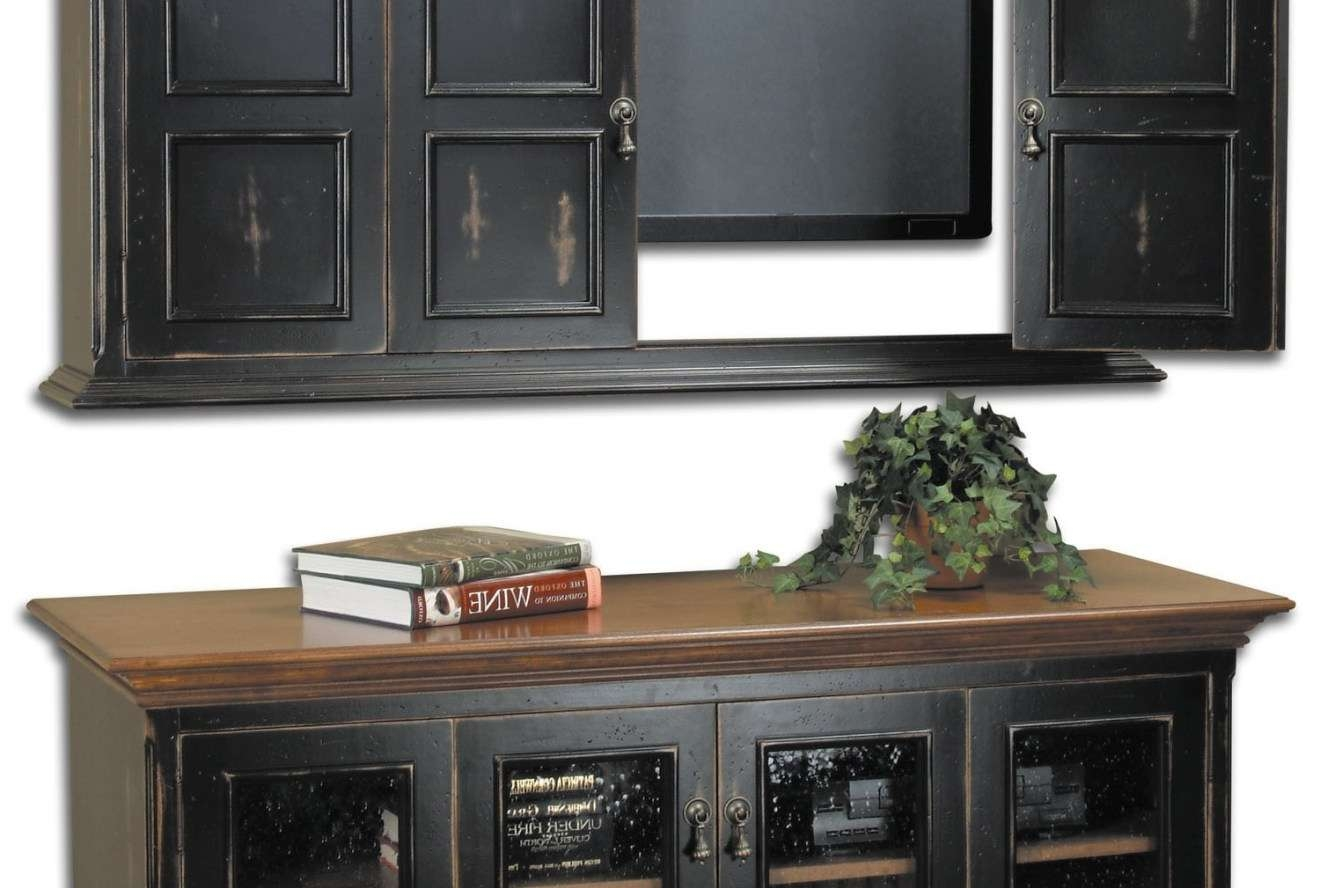 Tv : Astonishing Black Tv Cabinets With Doors Enthrall Black Tv With Black Tv Cabinets With Doors (View 16 of 20)