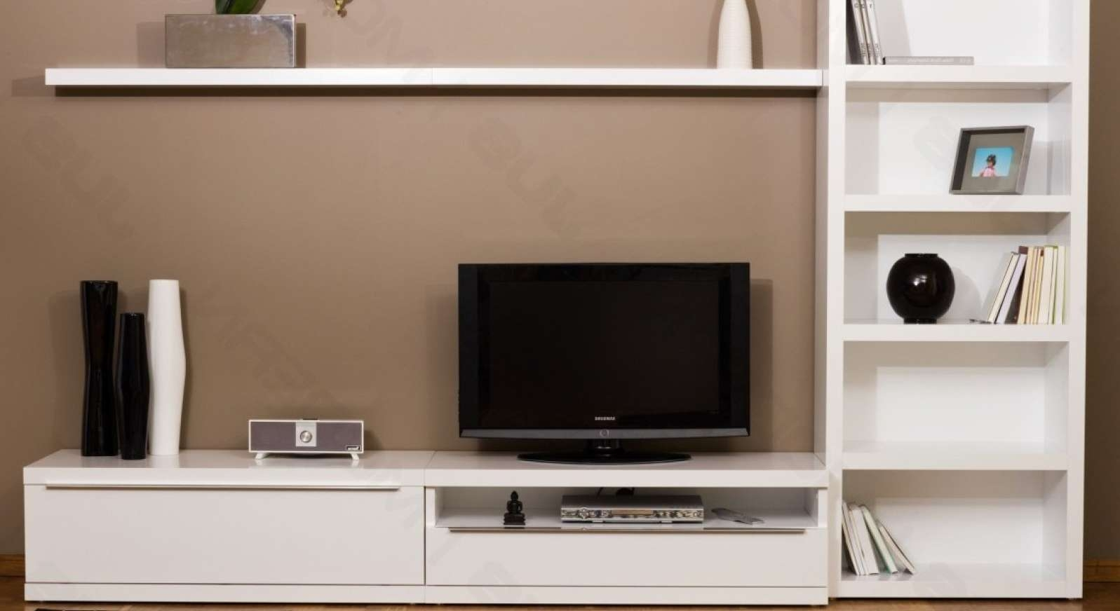 Tv : Beautiful Tv Stands With Bookcases Beautiful White Black Wood Regarding Tv Stands With Matching Bookcases (View 3 of 15)