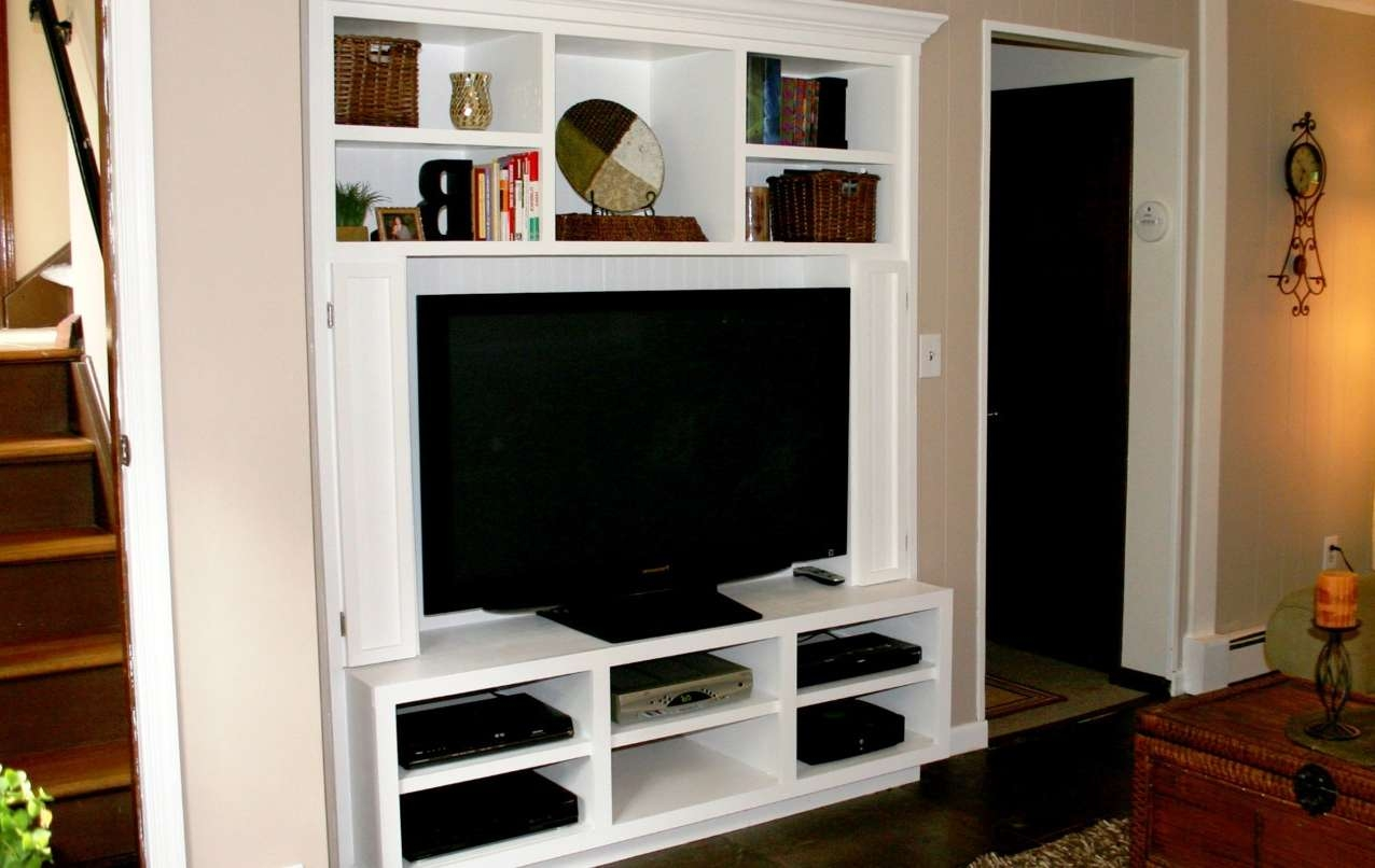 Tv : Beautiful Tv Stands With Bookcases Built In Bookshelves Intended For Tv Stands With Matching Bookcases (View 4 of 15)