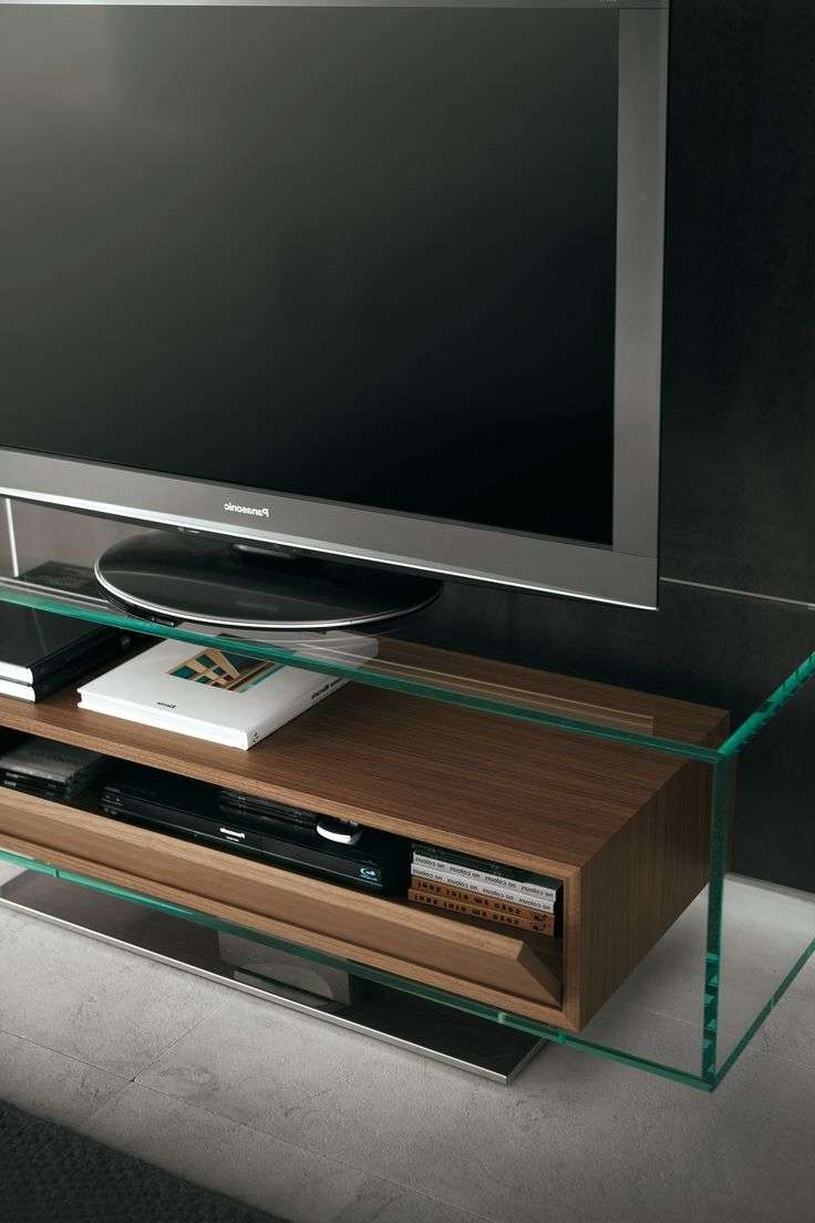 Tv : Black Glass Black Frame Lcd Plasma Tv Hifi Stands Beautiful For Opod Tv Stands Black (View 15 of 20)