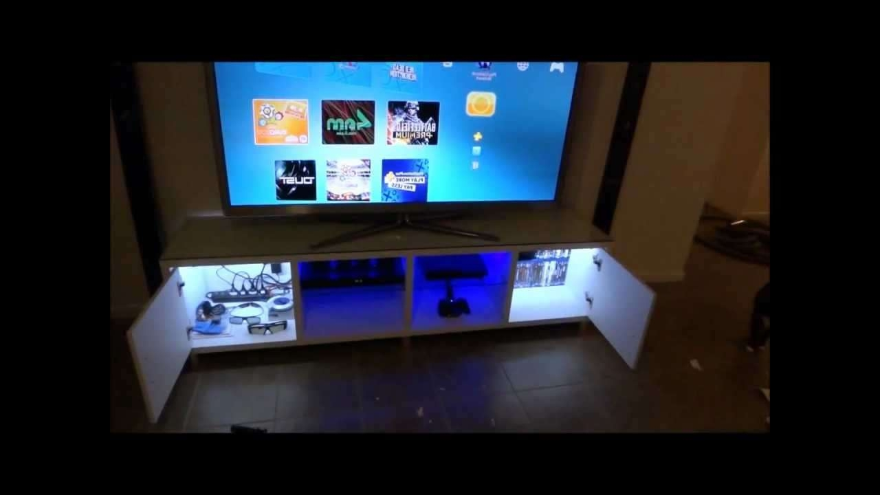 Tv Cabinet Custom Led Lighting – Youtube Inside Tv Stands With Led Lights (View 13 of 15)