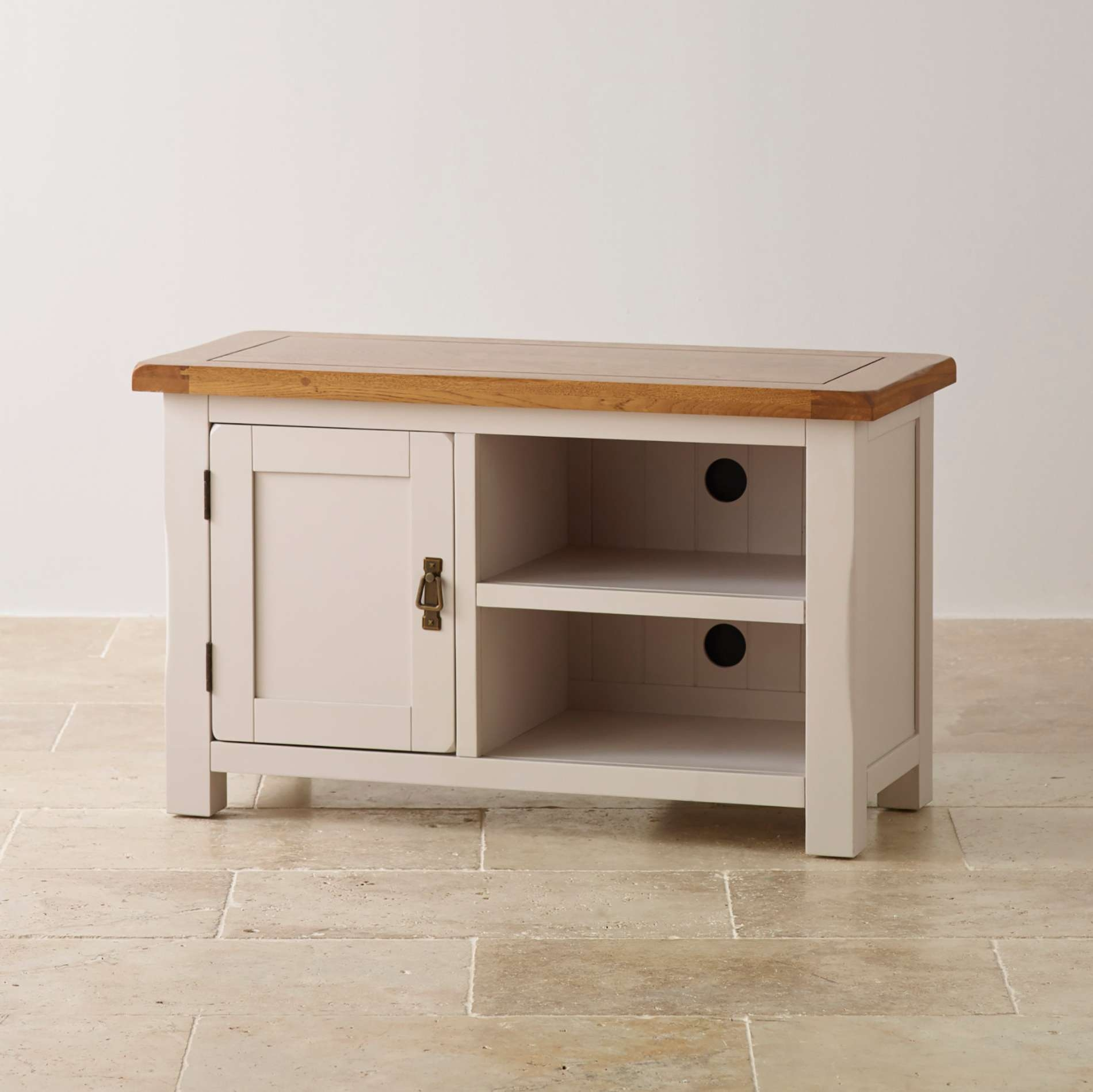Tv Cabinets | Mango, Painted & Oak Tv Units | Oak Furniture Land Throughout Small Oak Tv Cabinets (View 18 of 20)