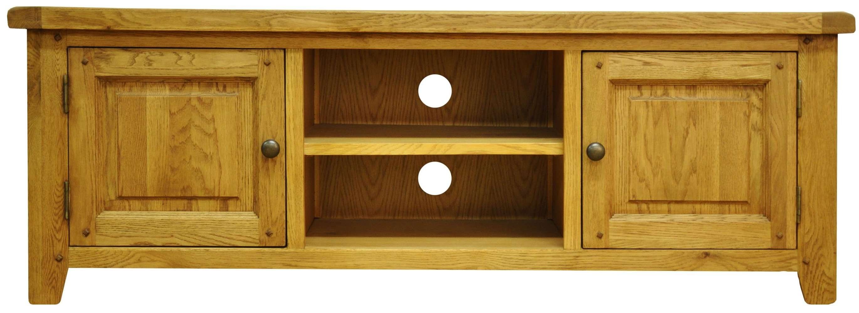 Tv Cabinets : Stanton Large Tv Unitstanton Large Tv Unit Pertaining To Oak Tv Cabinets With Doors (View 13 of 20)