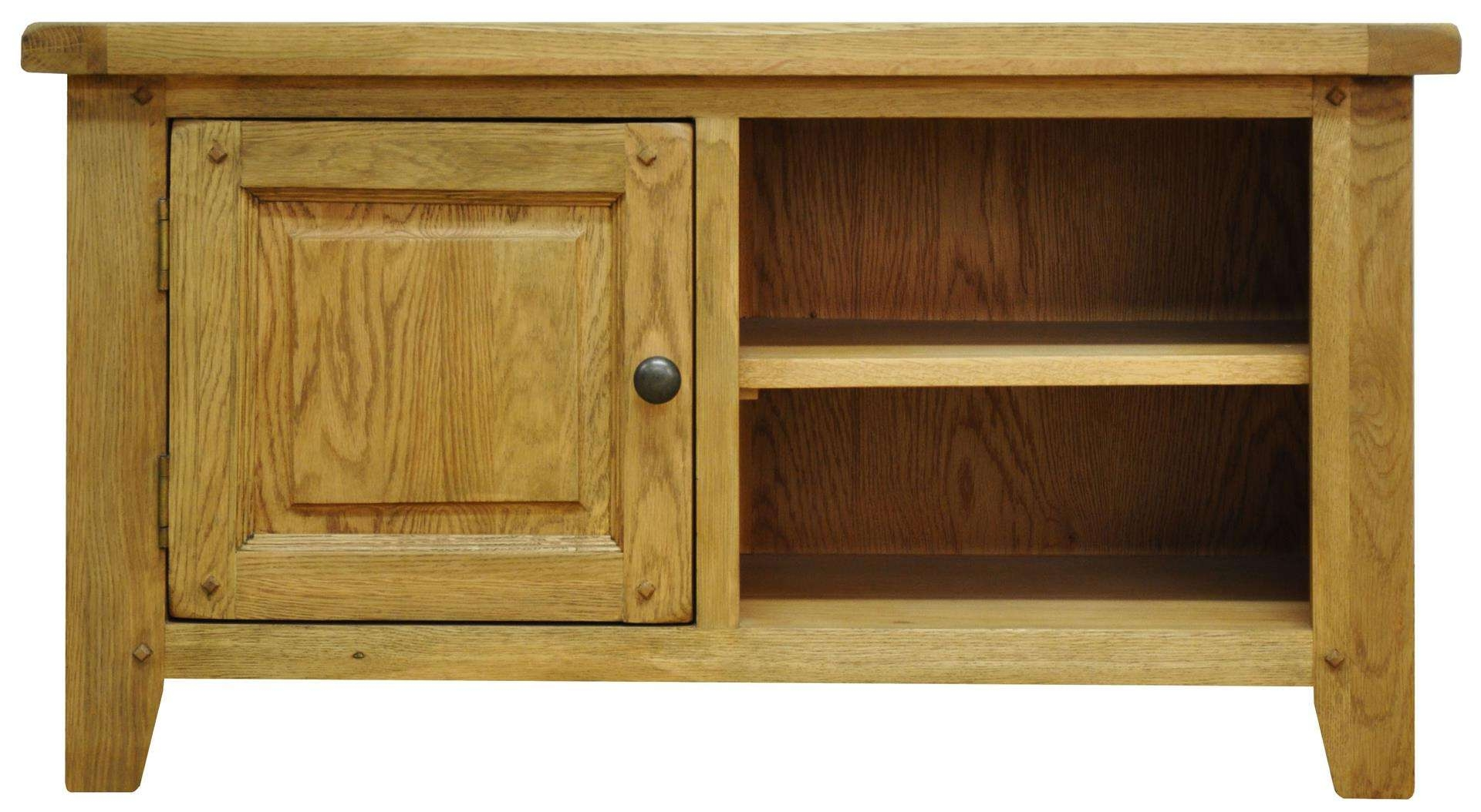 Tv Cabinets : Stanton Standard Rustic Oak Tv Unitstanton Standard Inside Small Oak Tv Cabinets (View 19 of 20)