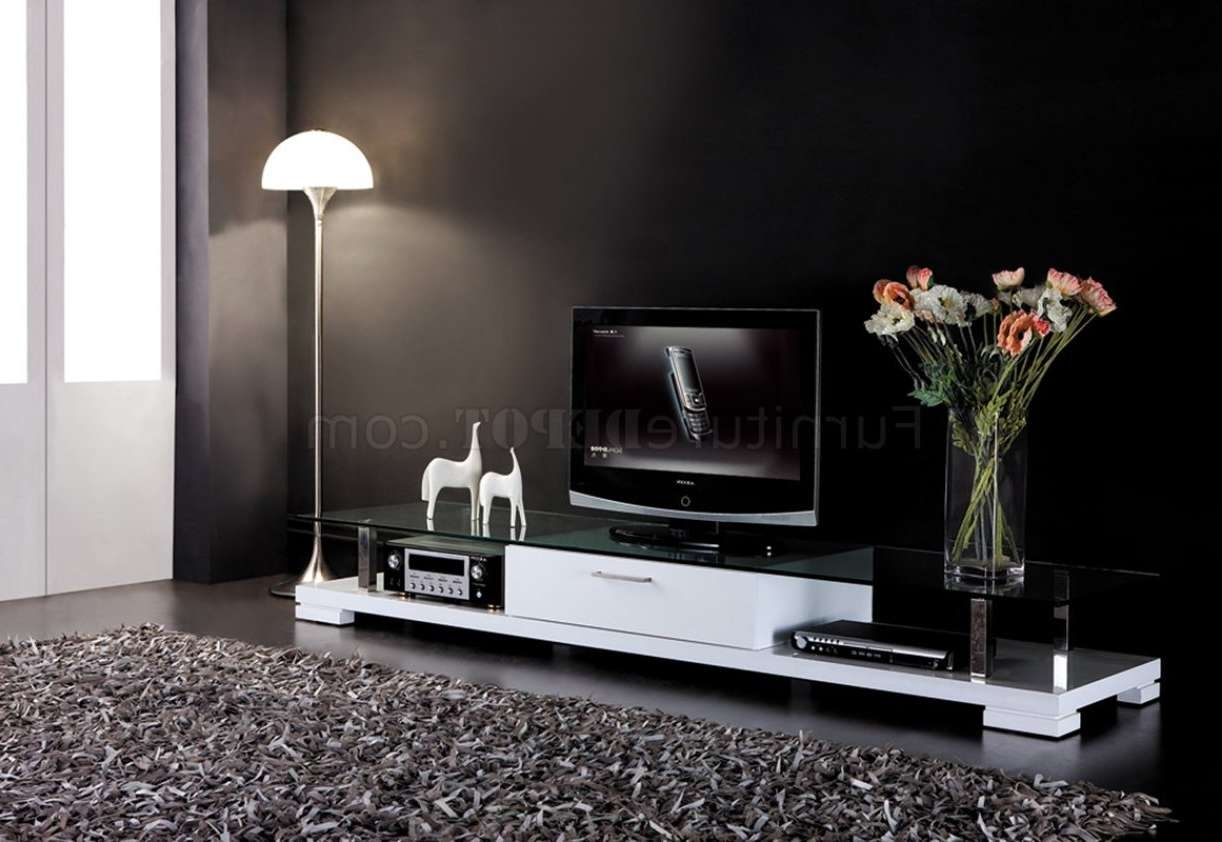 Tv : Curious Black Gloss Tv Stand With Led Lights Magnificent In Shiny Black Tv Stands (View 12 of 15)