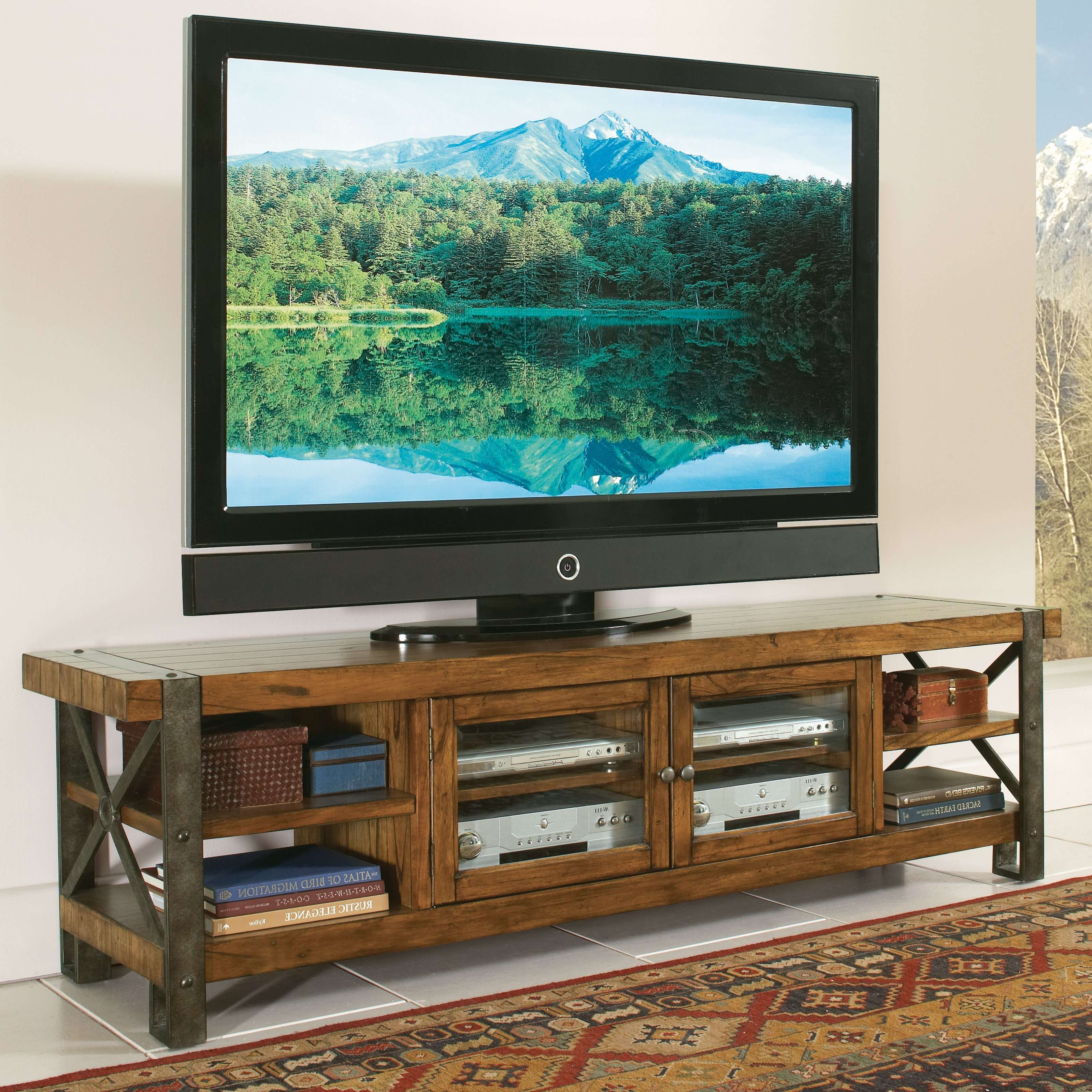 Tv : Diy Tv Stand Awesome Rustic Looking Tv Stands Tv Stand Intended For Rustic Looking Tv Stands (View 11 of 15)